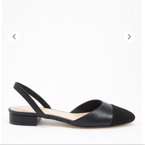 68e013fc194f Forever 21 Shoes   Forever21 Faux Leather Cap Toe Slingback Flats ...